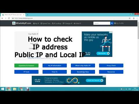 How to check IP address, find Public IP and Local IP