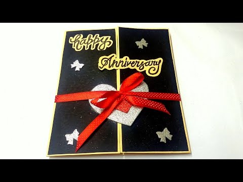 A Beautiful Greeting Card For Anniversary By Handmade Cards Ideas : complete tutorial