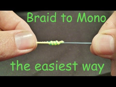 How to tie Braid to Mono Leader Knot | How to tie Braid to Leader knot