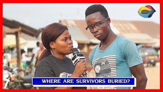 Where Are Survivors Buried? | Street Quiz | Funny Videos | Funny African Videos | African Comedy