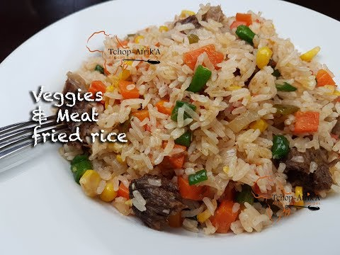 Veggies and meat fried rice