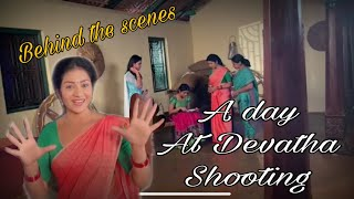 Devatha behind the scenes    a day at shooting    it's yours Swetha