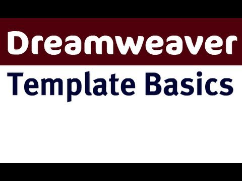 Template Basics in Dreamweaver CS4