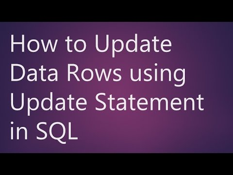 Learn How to Update Data Rows using Update Statement in SQL