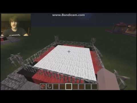 how to make a boxing ring -on minecraft