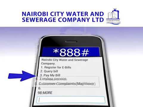 Nairobi City Water & Sewerage Company Ltd. goes digital on billing.