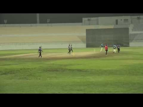 Raja of Hanan Cricket Club Qatar Batting in HANAN Premier League 2016 QATAR