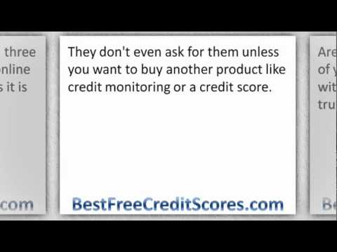 Free credit report online without using a credit card