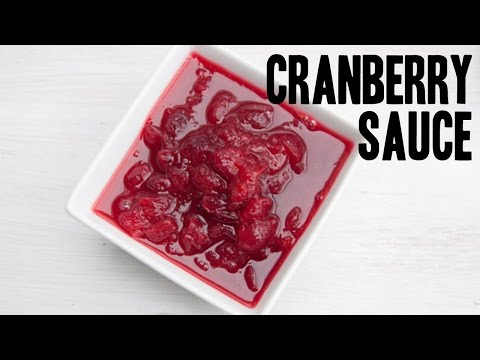 Easy, 3-Ingredient Cranberry Sauce | Perfect for Thanksgiving!