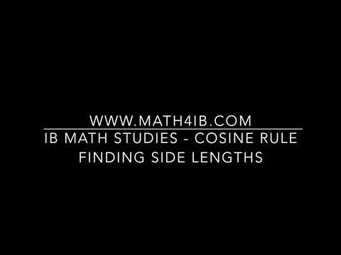 IB Math Studies - Cosine Rule - Finding unknown Side Lengths