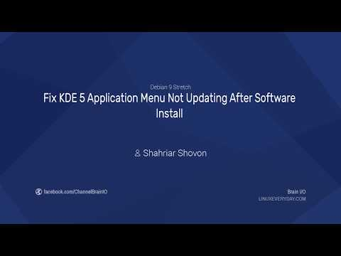 Fix KDE 5 Application Menu Not Updating After Software Install