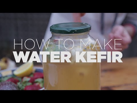 How to make the tastiest water kefir ever!! (only three simple steps)