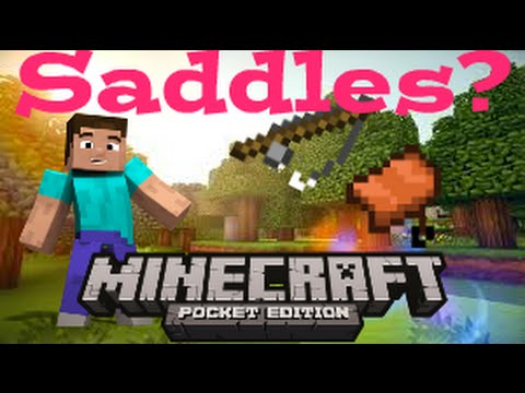 HOW TO GET SADDLES?TIPS AND TRICKS [MINECRAFT PE 15.1]