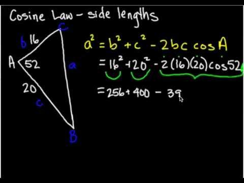 Trig Cosine Law sides