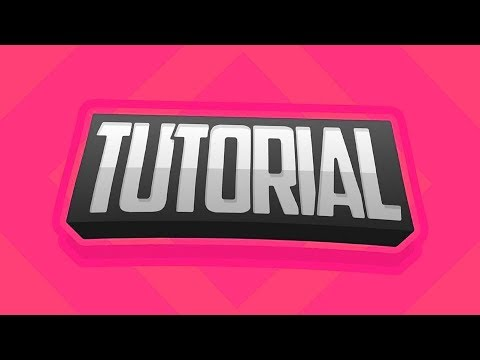 [TUTORIAL] How to Make Professional 2D Text (TGODdesigns) (PhotoshopCC/PsTouch)