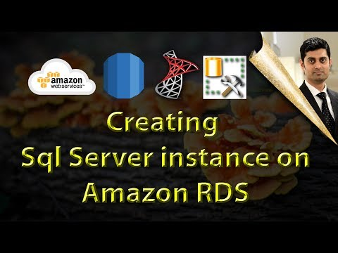 Creating Sql server instance on AWS RDS