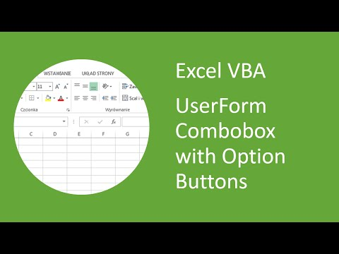 Excel VBA UserForm Combobox with Option Buttons