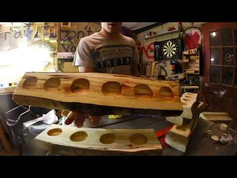 How to make a rustic candle holder out of a log