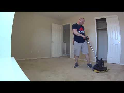 Cleaning carpet at  Dr Horton home in Austin Texas  Carpet VLOG