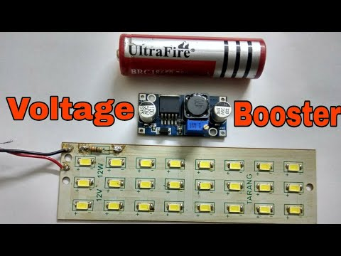 XL6009 DC Voltage Step-up Module Testing||Glow 12volt Led Strip From 3volt Battery