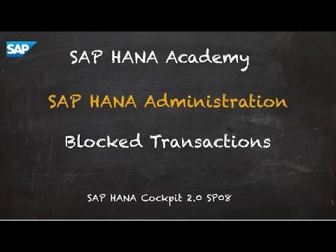 [2.0 SP08] SAP HANA Administration: Blocked Transactions - SAP HANA Academy