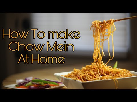 How To Make Noodles (Chow Mein) At Home, Quick and Simple.