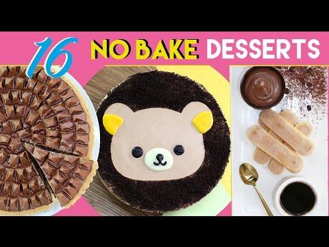 NO BAKE DESSERTS - 16 Simple Dessert Recipes - Toblerone Tart, Ferrero Bowls & More