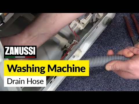 How to Change the Drain Hose on a Washing Machine (Zanussi)
