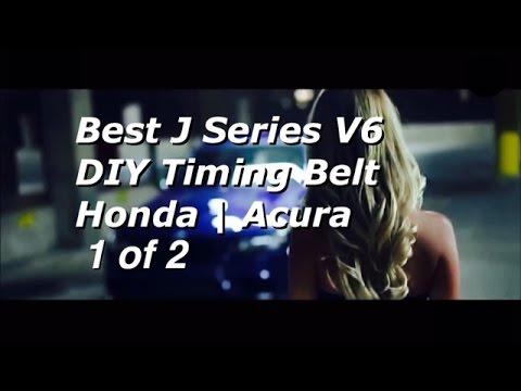 BEST DIY Honda Acura V6 J Series Timing Belt Replacement PART 1 - 19200-RDV-J01 - Bundys Garage
