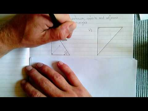 Trigonometry  - Example 1 (labelling the sides of a triangle)