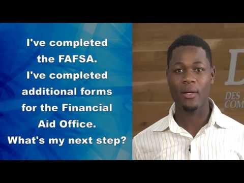 DMACC How to:  Reviewing and Accepting Financial Aid Awards