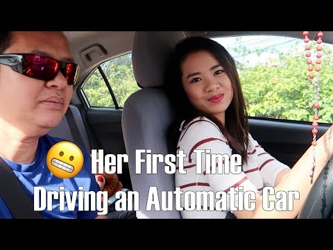 HER FIRST TIME DRIVING AN AUTOMATIC CAR | CEBU Philippines