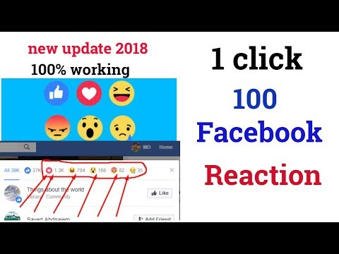 How to Increasing Facebook Reaction (2018) | Get 100+ Reactions in 1 Click on Facebook