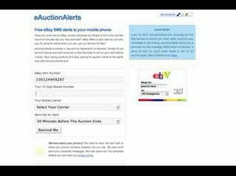 How To Get Free eBay Mobile Text Alerts