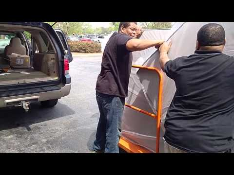Loading queen mattress in Expedition