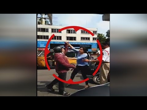 Women rash driving in begumpet,hyderabad#rude behaviour with bike riders#she attacks traffic police