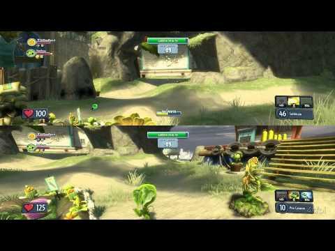 We Play Plants Vs Zombies Garden Warfare Split Screen On Sharkbite Shores Waves 1-5