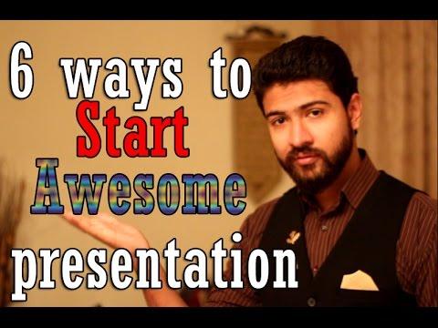 Improve Presentation Skills: How to start a presentation p2
