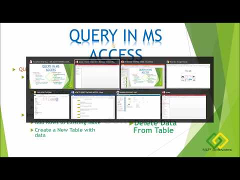 8.  Create a Query in MS Access By Design View Hindi Part   1