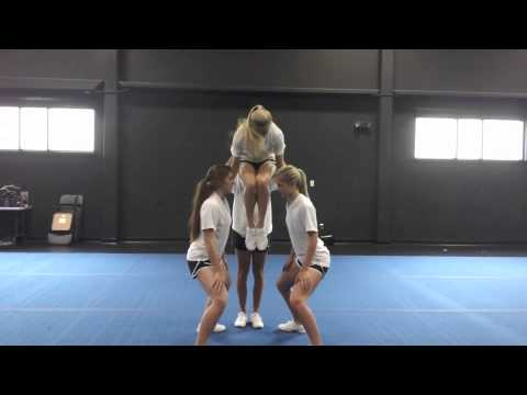 Basic Cheerleading Stunt Progression: Hang Drill