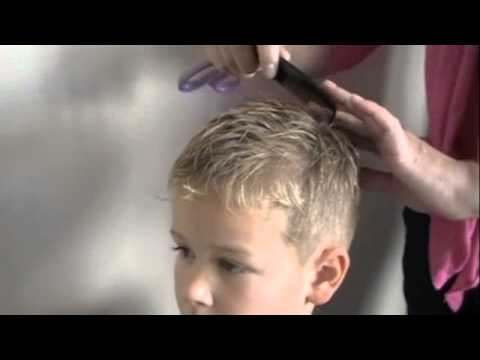 How to cut boys Hair with clippers and scissors