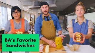 Pro Chefs Make Their Favorite Sandwiches | Test Kitchen Talks | Bon Appétit