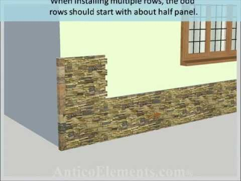 Faux Stone Installation