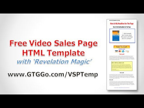 Free Video Sales Page HTML Template