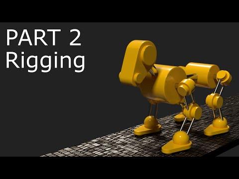 Blender Tutorial: Robot Dog Animation Part 2 - Rigging