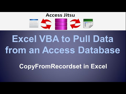 Excel VBA to Extract Data from an Access Database