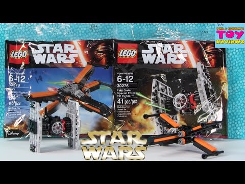Lego Star Wars Mini Ships Speed Build | 30278 30276 XWing Tie Fighter | PSToyReviews