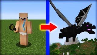 NOOB vs MINECRAFT - O NOOB VIROU O ENDER DRAGON !!!!!! ( MINECRAFT MACHINIMA )
