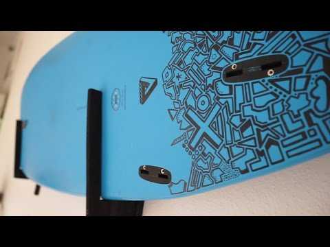 DIY Surfboard Wall Mount