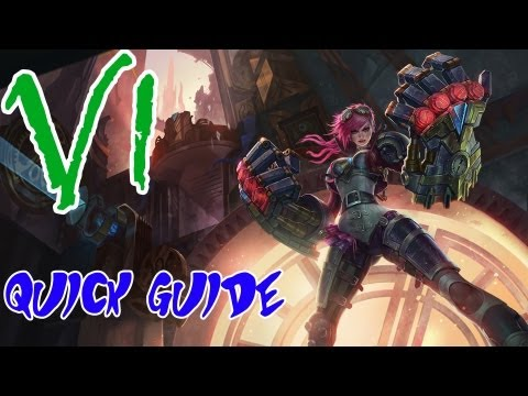 League Of Legends - Vi Guide - Skills, tips, build and more! (Free Champion Friday)